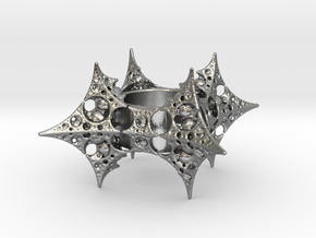 Dragon Fractal Ring size 6 (16.5mm) in Raw Silver