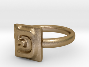 17 Pe Ring in Polished Gold Steel: 7 / 54