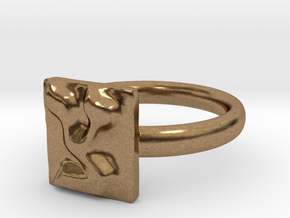 18 Tzadi Ring in Natural Brass: 7 / 54