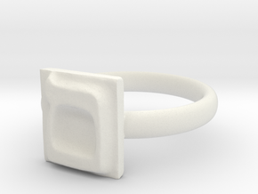 24 Mem-sofit Ring in White Natural Versatile Plastic: 7 / 54