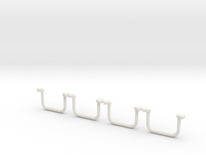 Whirlwind Cabin Handle  in White Natural Versatile Plastic