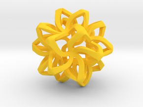 Star pendant in Yellow Processed Versatile Plastic
