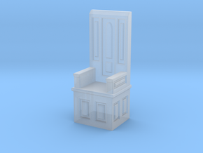 Gothic Chair IV in Smooth Fine Detail Plastic