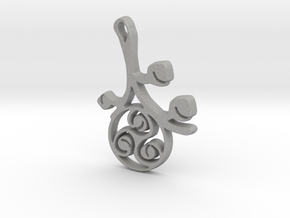 Earthly Spring Triskele by ~M. in Aluminum