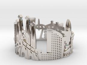 Barcelona Skyline - Cityscape Ring in Platinum: 10.25 / 62.125