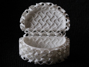 Gyroid Box in White Natural Versatile Plastic
