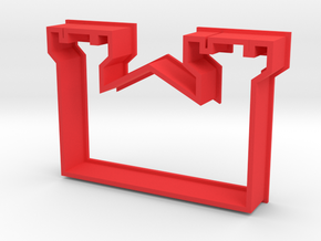 Cookie Cutter Castle in Red Processed Versatile Plastic