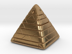 Pyramide Enlighted in Natural Brass