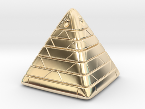 Pyramide Enlighted in 14k Gold Plated Brass