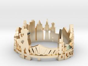 Frankfurt Skyline - Cityscape Ring in 14K Yellow Gold: 9 / 59