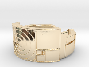 Celestial Mechanics Ring Size 7 in 14K Yellow Gold