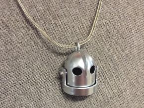 Iron Giant Head Pentant in Rhodium Plated