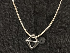 Watchdogs ctOS Pendant in Polished Nickel Steel