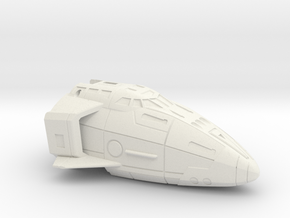 Combat Orbiter Nose Section MK.II One-Piece in White Natural Versatile Plastic