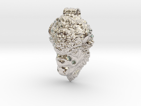 Bison Head pendant in Platinum