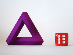 Impossible Triangle in Purple Processed Versatile Plastic