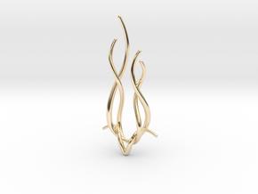 Spiral Deer pendant in 14k Gold Plated Brass