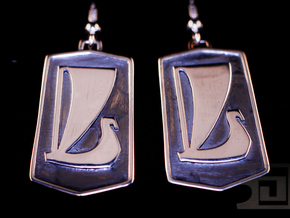 Lada Earrings in Polished Silver