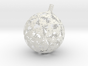 Christmas version of stereographic projection lamp in White Natural Versatile Plastic