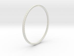 """Bangle simple """"diamonds"""" in White Natural Versatile Plastic"""