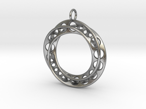 Moebius Band Ø30mm Pendant improved Version in Natural Silver