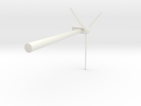 Wind 450KW Turbine in White Natural Versatile Plastic: Extra Small