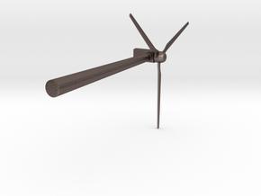 Wind 450KW Turbine in Polished Bronzed Silver Steel: Large