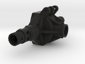 NCX10 Axle Housing in Black Natural Versatile Plastic