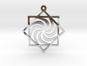 "Melchizedek Vortex 1.6"" in Polished Silver"