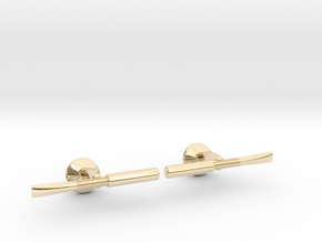 Oboe Reed Cufflinks in 14k Gold Plated Brass