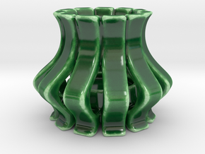 Candle Holder EEGG in Gloss Oribe Green Porcelain