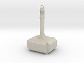 Thor Hammer KeyChain in Natural Sandstone
