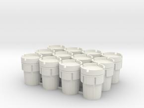 12 Overpacks, 95 Gallon, Standard, 1/64 in White Natural Versatile Plastic