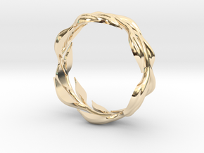 Vine Band, Size 9 in 14k Gold Plated Brass