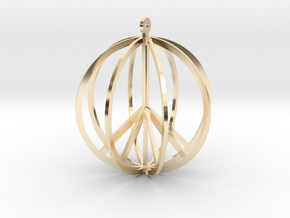 Global Peace in 14K Yellow Gold