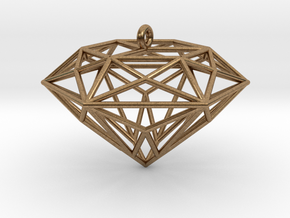 Diamond Ornament in Natural Brass