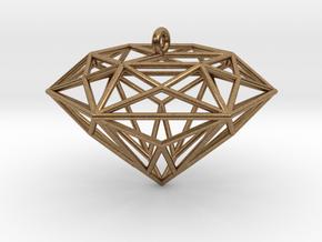 Diamond Ornament in Natural Brass