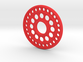 Hand Spinner Disk in Red Processed Versatile Plastic