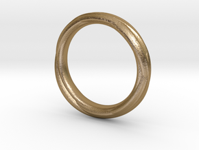 Ring 7b in Polished Gold Steel