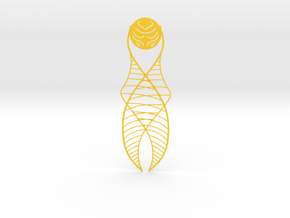 Golden Snitch Bookmark in Yellow Strong & Flexible Polished