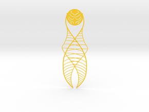 Golden Snitch Bookmark in Yellow Processed Versatile Plastic