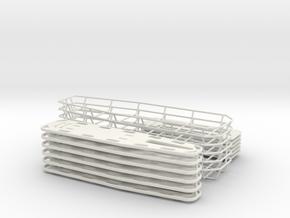 1-18 Spine Board Baskets 6ea in White Natural Versatile Plastic