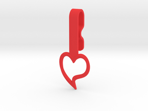Heart Collar Hanger in Red Processed Versatile Plastic