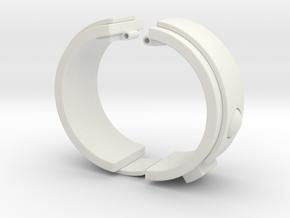 Blake's 7 Teleport Bracelet Series 1 in White Natural Versatile Plastic
