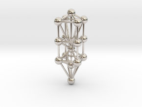 3D Tree Of Life in Rhodium Plated Brass