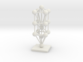 3D Tree Of Life Sculpture  in White Strong & Flexible