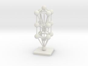 3D Tree Of Life Sculpture  in White Natural Versatile Plastic
