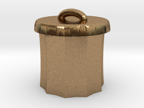 Power Grid Garbage Pails - One Pail in Natural Brass