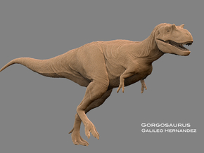 Gorgosaurus1:35 v1 in White Strong & Flexible