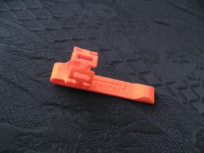 Pen Clip: for 14.5mm Diameter Body in Orange Strong & Flexible Polished